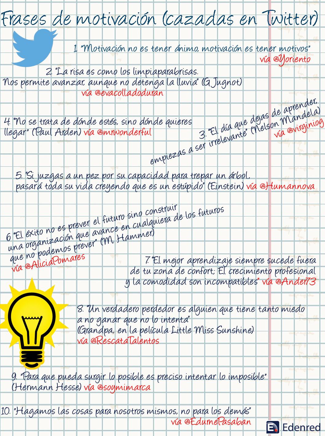 Las Mejores Frases De Motivación Cazadas En Twitter El